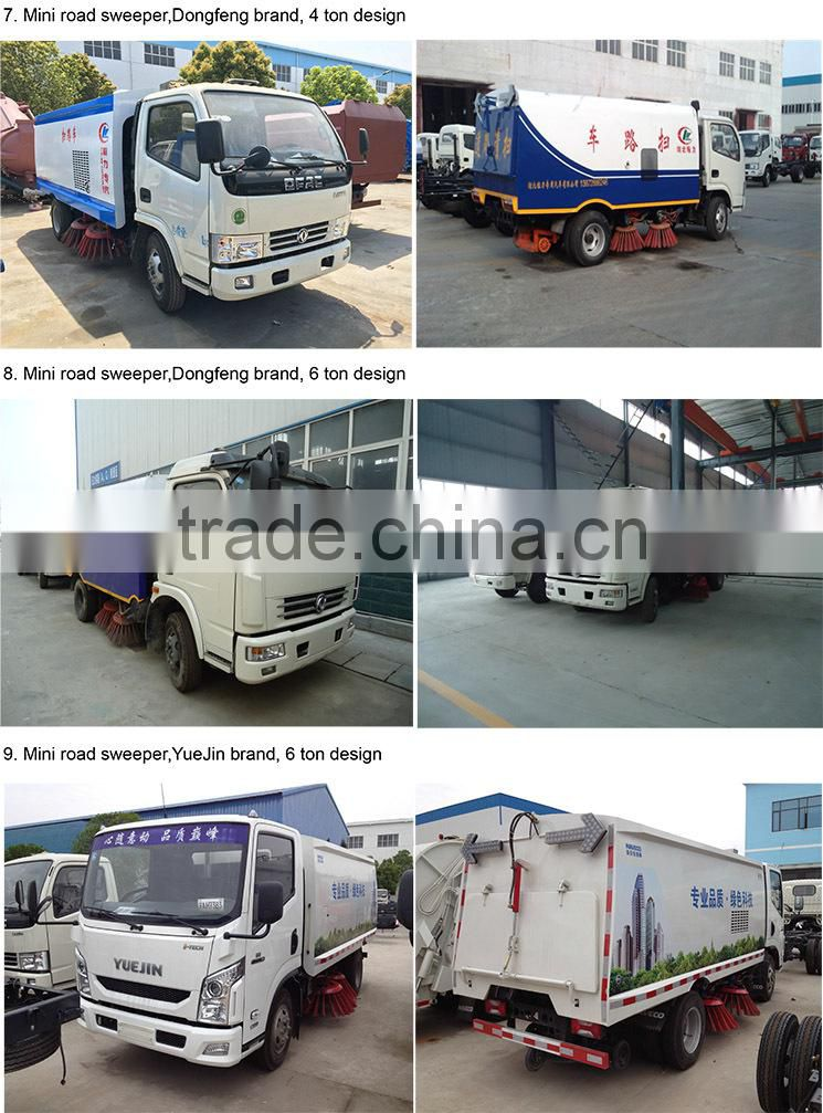 Dongfeng 4*2 type 120hp 6 ton road cleaning car