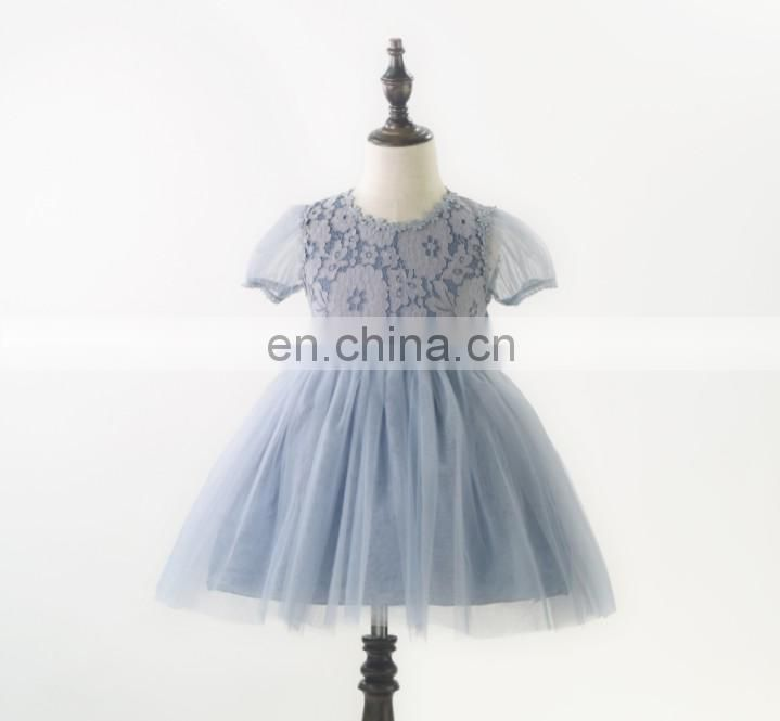 Pink Tulle Girl Lace Dress Floral Pastel Spring Minidress Easter Outfit