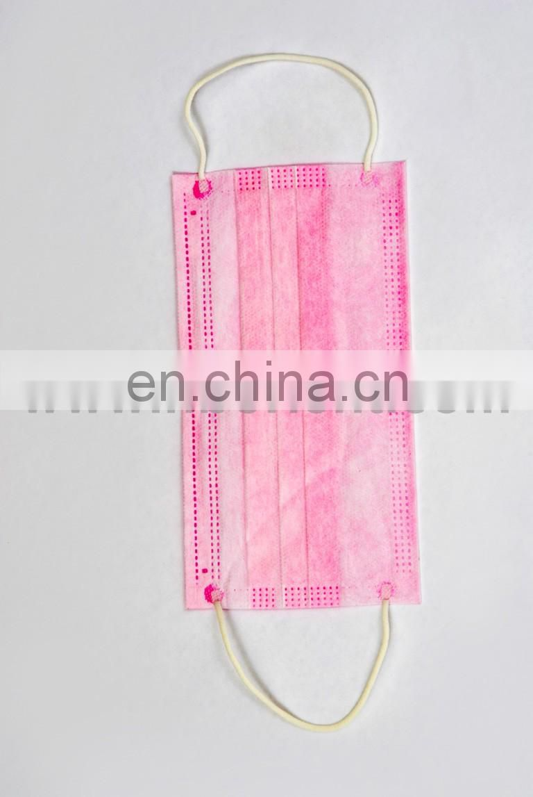Nonwoven disposable PP 3ply printed face mask