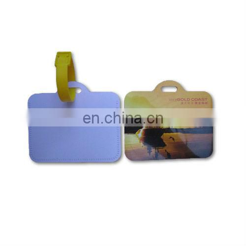 Hard PVC luggage tag with your LOGO