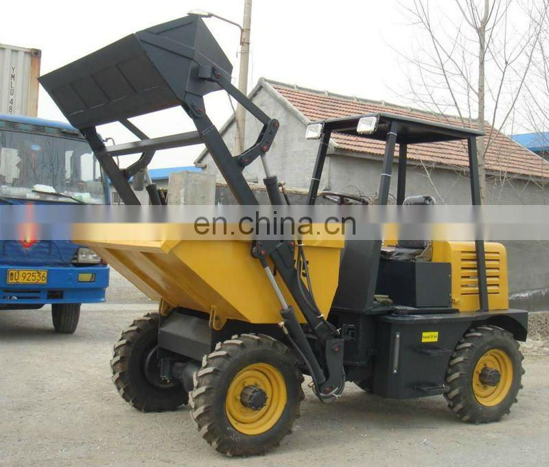 New 2ton hydraulic tip lorry site dumper