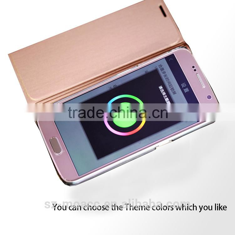 2015 new design leather smart health protective case for Samsung Galaxy S6