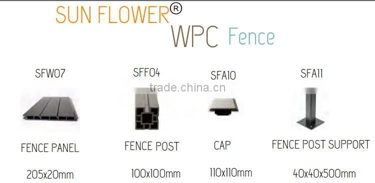 wpc fence panels for garden fence better than the vinyl fence /pvc fence /plastic fence