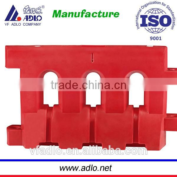 Chinese rotomolding security red road traffic PE water door barrier