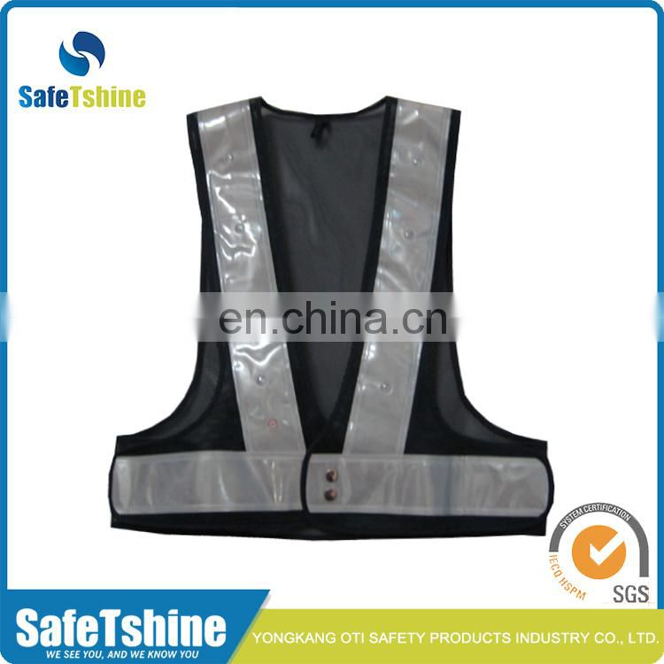 Hot sale new style high visibility safety reflective flashing led safety vest