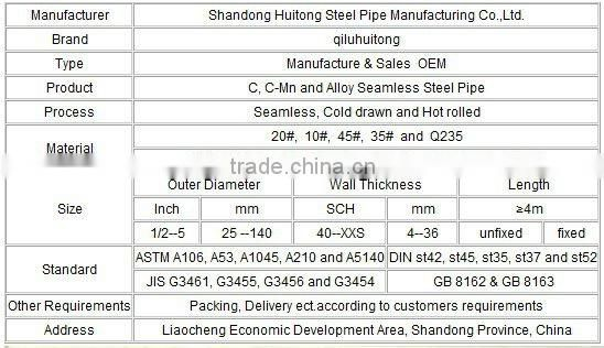 supply seamless steel pipe/casing pipes/line pipes carbon seamless fluid steel pipe OF manufacturer