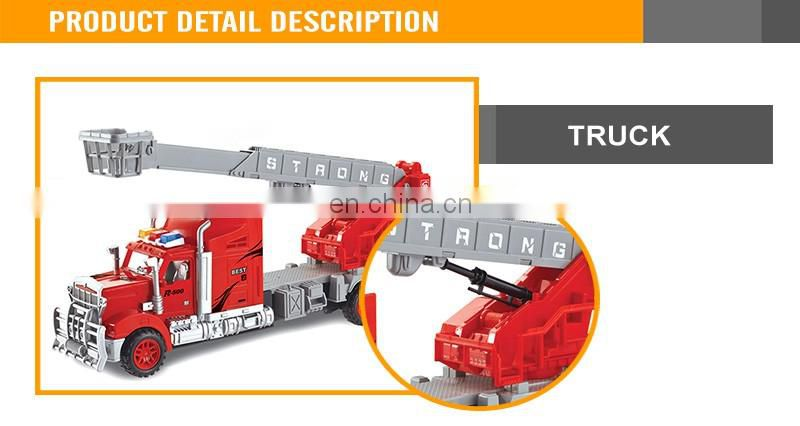 New Design Kids Friction car Fire Fighting Truck Plastic Toy Fire truck