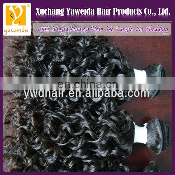 High quality wholesale cuticle carefully- selected materials hair curly grade 100% unprocessed brazilian remy hair weft
