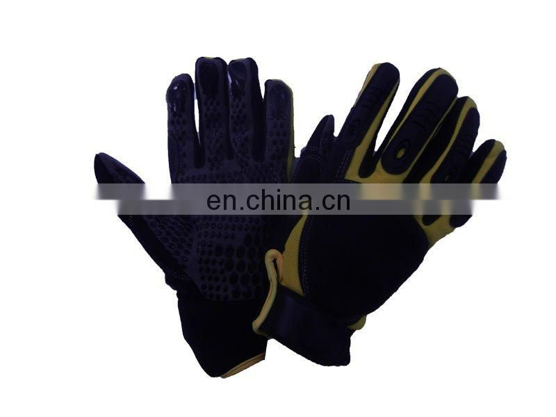 black industrial latex glove