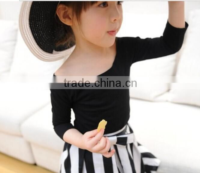 Elegant children girl's T shirt,off shoulder designs 2014 Summer