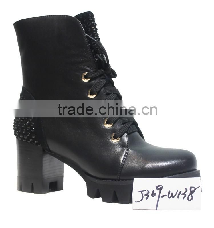 Winter lady sheepskin leather canadian fashion sexy boot