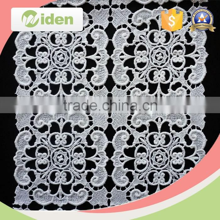 Free sample available cotton embroidery lace geometric pattern chemical lace fabric