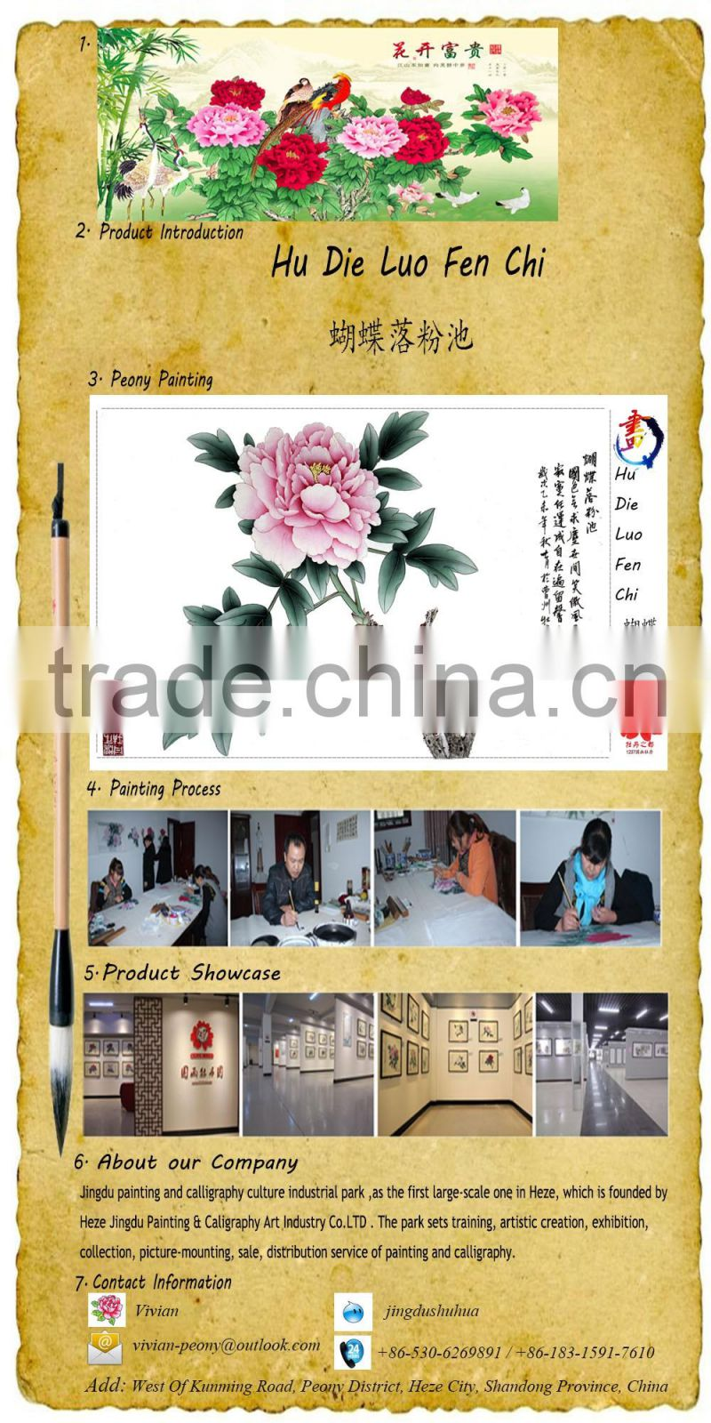 Hot ! 100% origial handmade painting & Calligraphy manufacture in China