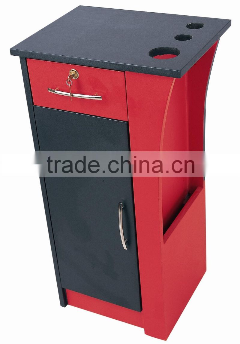 2015 HONGZI hot sale red painting salon trolley