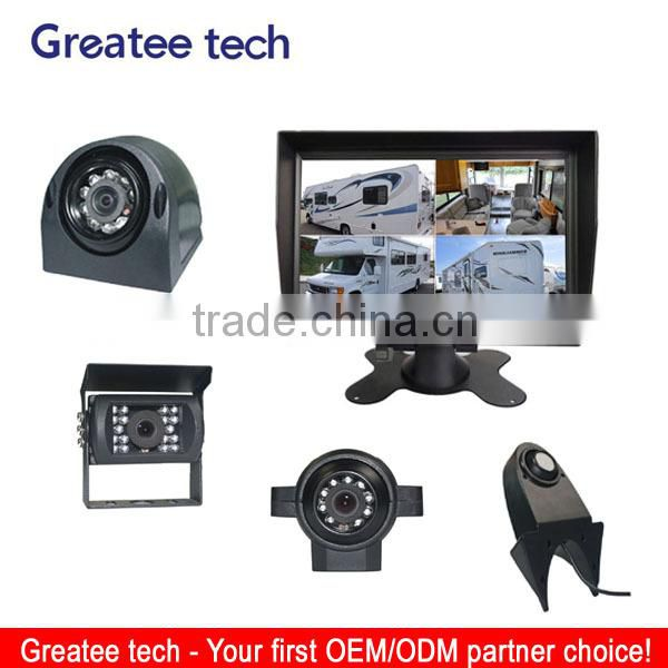 car rearview camera system for bus/truck rearview 4-CH inputs