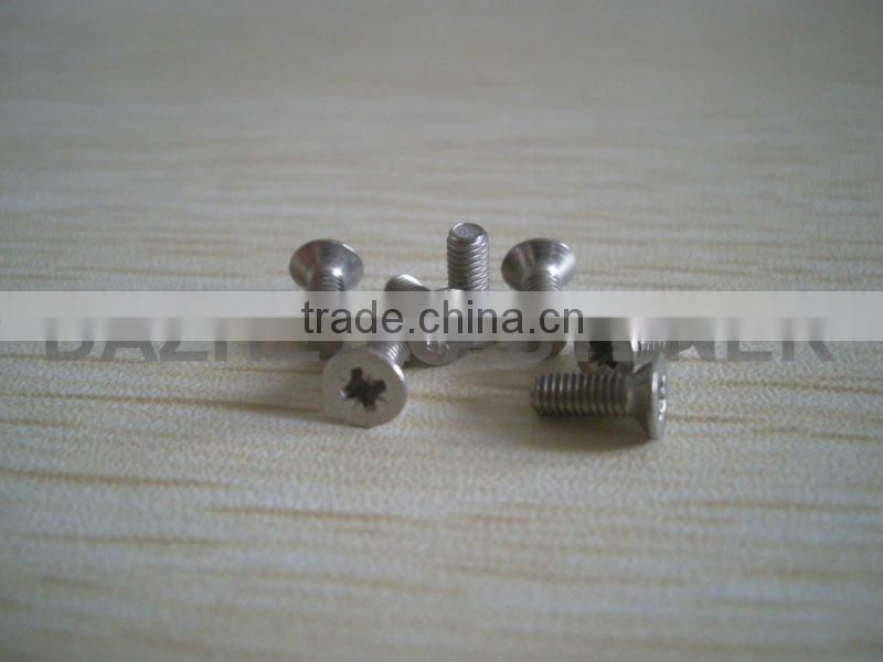 competitive price countersunk head pozi recess soloted machine screw