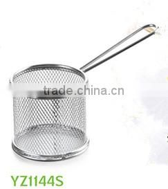 China Aliexpress Manufacture Stainless Steel Single Serving Mini Fry Basket