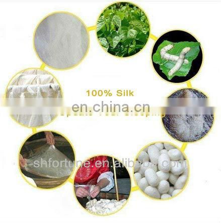 chinese natural printed silk fabric