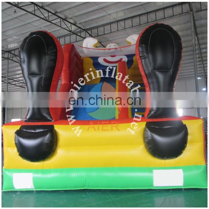 Commercial inflatable clown slide with two legs