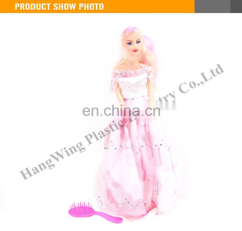 Hot Selling Dressing Plastic Fashion 11 Inch Kids Doll