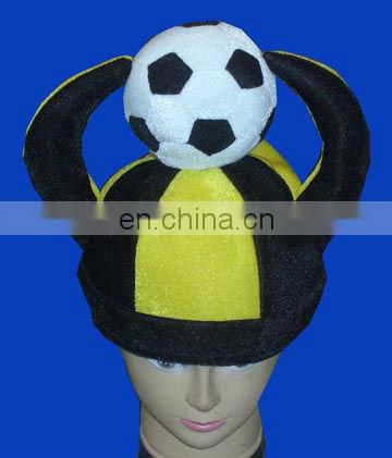 Wholesale world cup football hats with clap hand and min football
