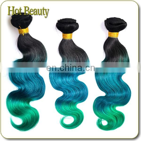 Hot Beauty 3 tone Body wave very special color blue brazilian virgin remy hair weft