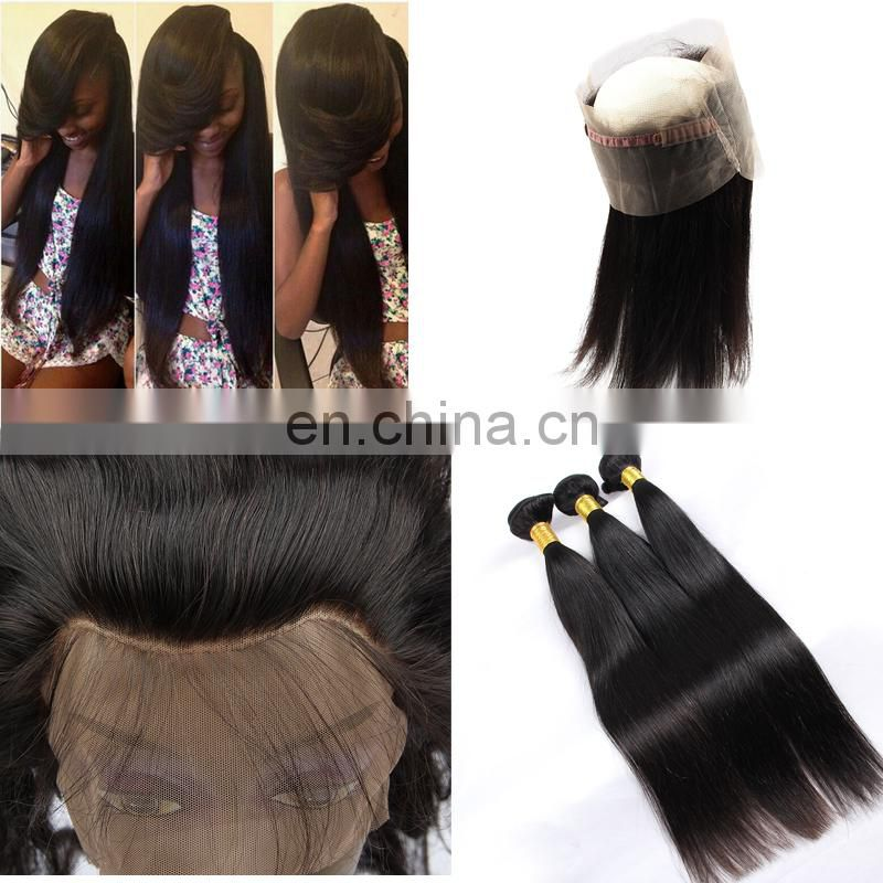 silk base 360 lace frontal closure with hair bundle virgin japanese hair weave