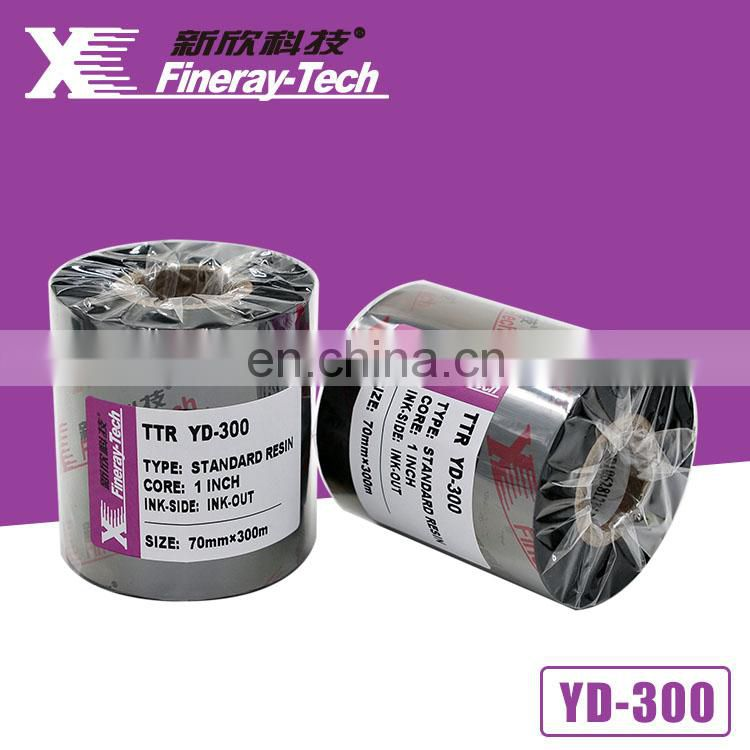 Xinxiang Fineray YD 300 Normal Premium Black Wax Resin Thermal Transfer Ribbon Jumbo Roll
