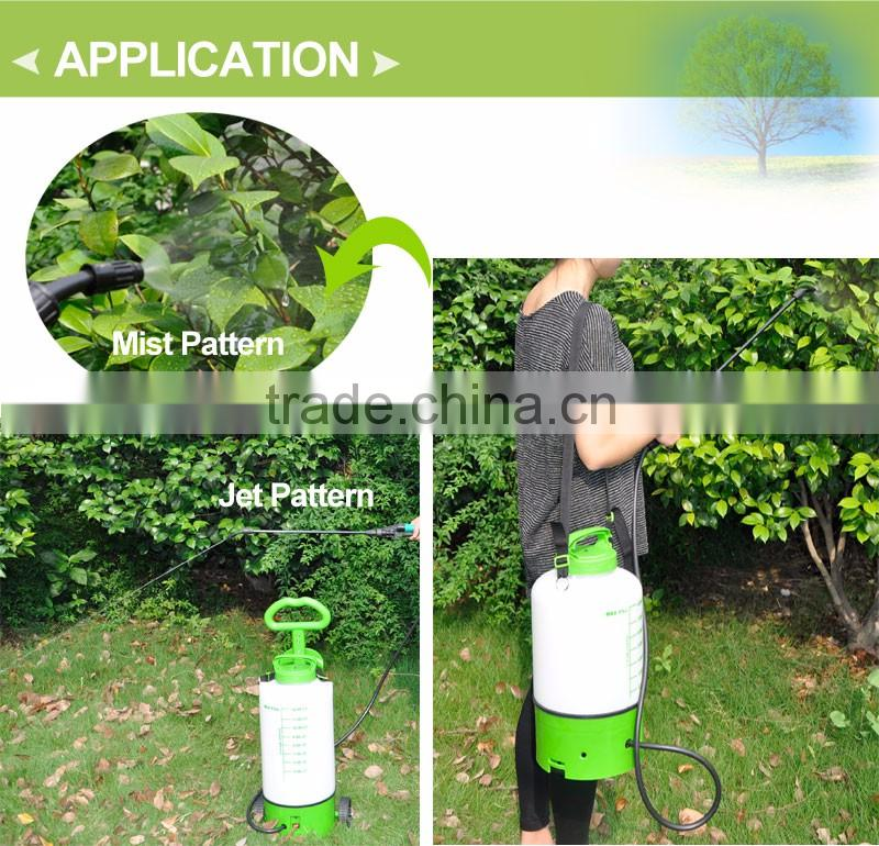 (1036) on wheels 2 and 3 Gal portable garden no pump rechargeable battery powered weed sprayer