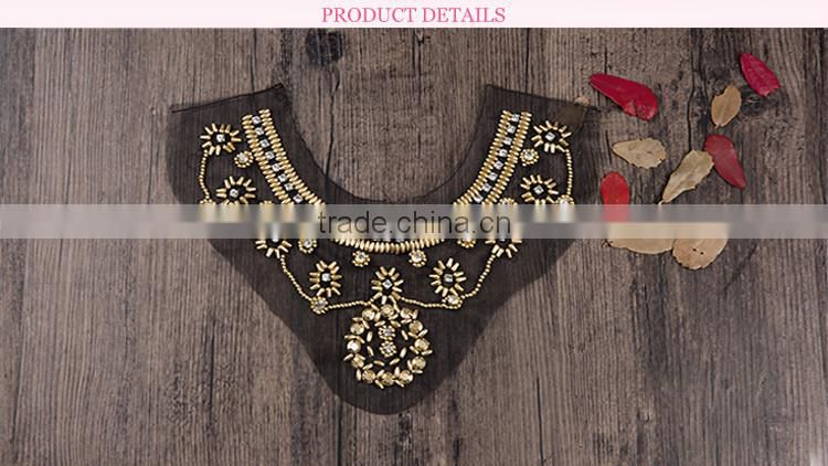 high grade blouse collar neck designs embroid lace collar