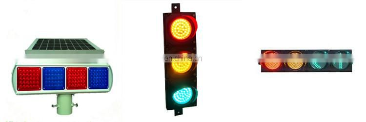 Alibaba China Supplier Customized Security And Protection Roadway Safety Solar Powered Warning Signal LED Traffic Light Sale
