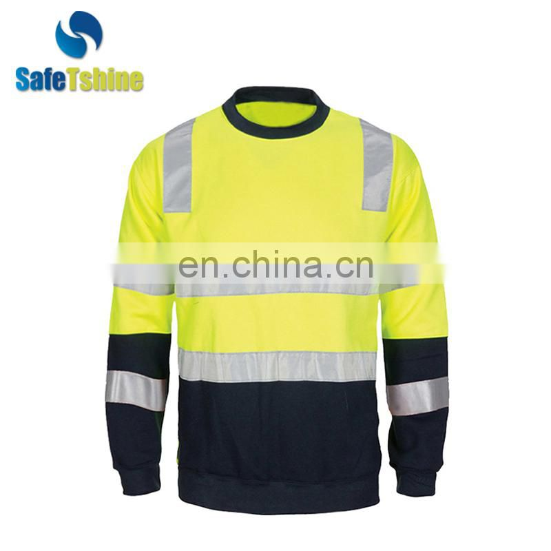 hi vis reflective safety fleece sweatshirt
