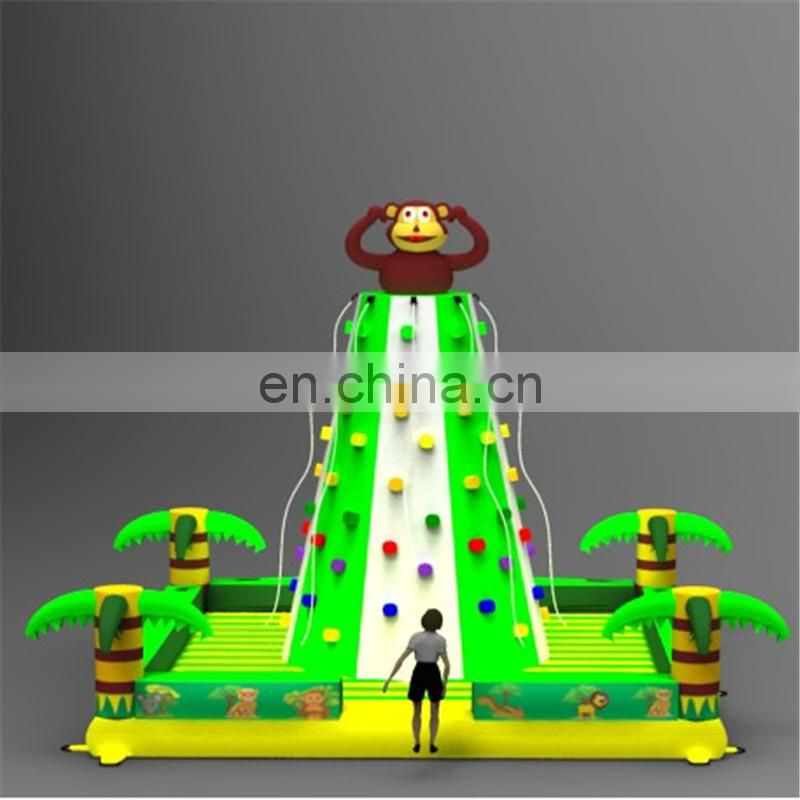 2017 top selling adults outdoor inflatable kids rock climbing wall
