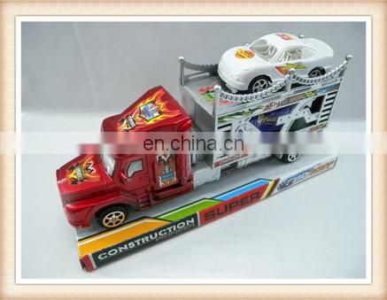 plastic friction drag head car toy, friction truck toy
