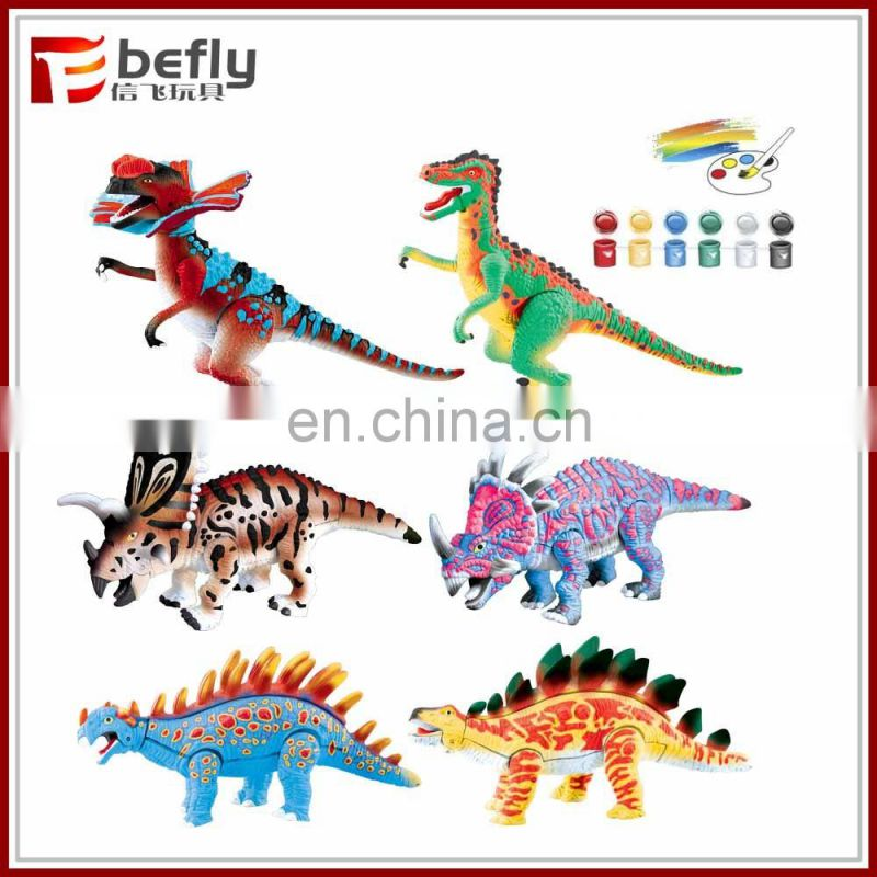 Wholesale lots kinds mixed plastic unpaint toy dinosaur
