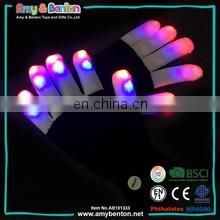 LED Rave Gloves Flashing Glow In The Dark Colorful Finger Gloves