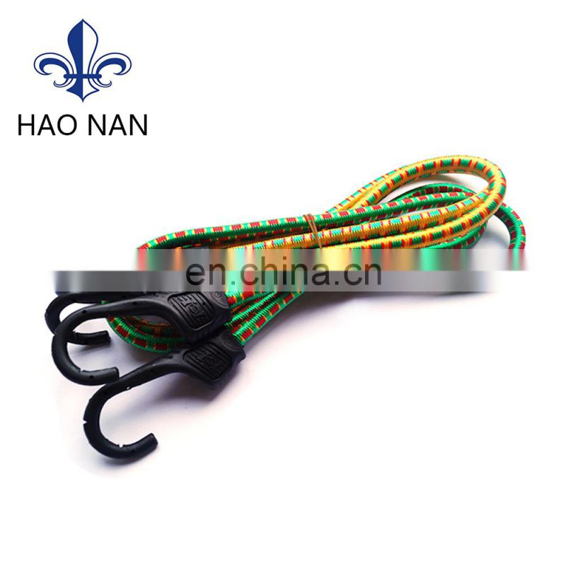 Hot sale good quality elastic flat bungee cord with hook