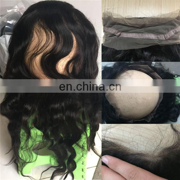 New arrival remy human hair raw unprocessed indian 360 lace frontal closure