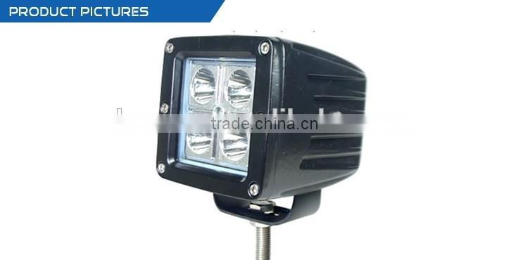 "Factory wholesale waterproof auto parts flood 3"" 10-30v 16w truck auto led work light with C REE"