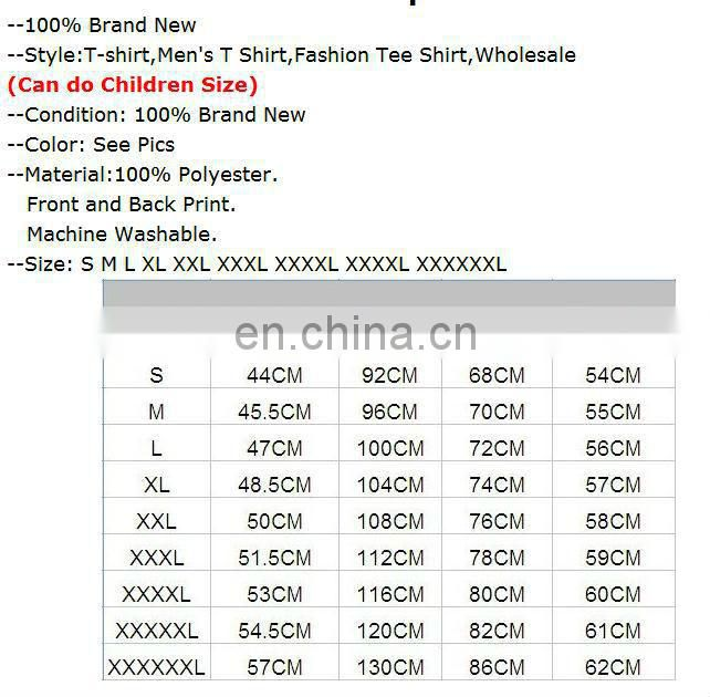 Men's 3D T-Shirt,Punk Three D Short Sleeve Tee Shirt,Plus Size Free Shipping,xxxl,zero shirts,wholesale rock band t-shirts,xxxl