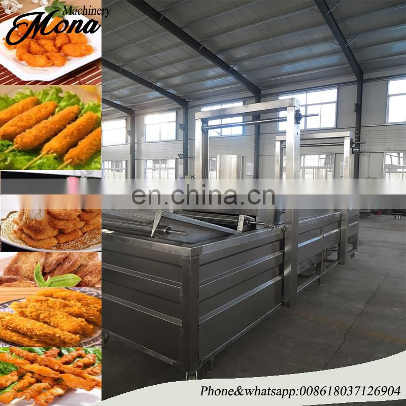 potato chips batch fryer production line/fried snack processing line/fryer