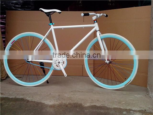 2016 newfixed gear bike with leather saddle/Good quality fixed gear track bike,fixie bike