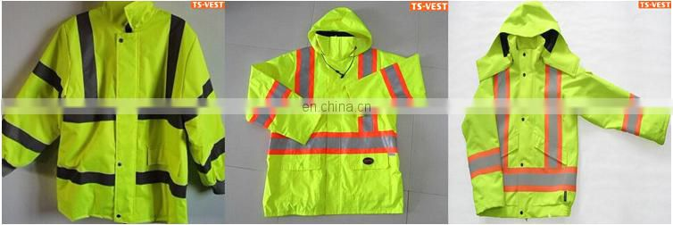 Breathable and durable fashion waterproof reflective jacket