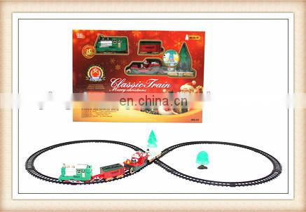 New product plastic railway toy Christmas gift Electric rail car toys
