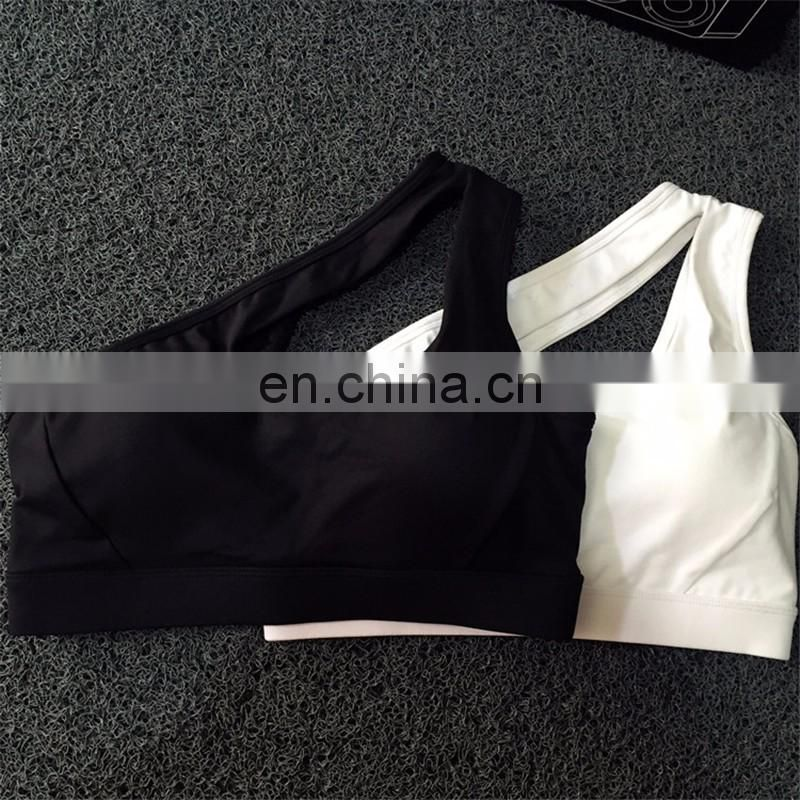 2017 Sexy One Shoulder Sports Bra Women Fitness Yoga Bra Gym Wear