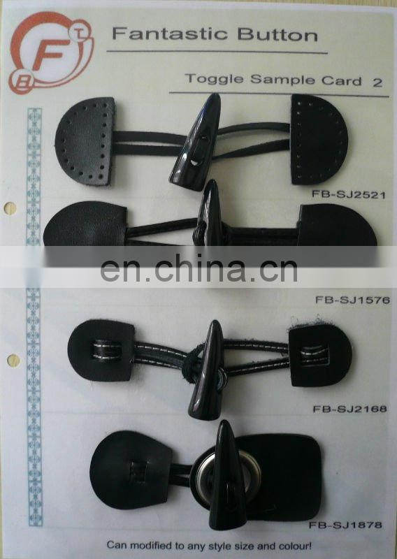 New leather toggle fastening FB-T1101