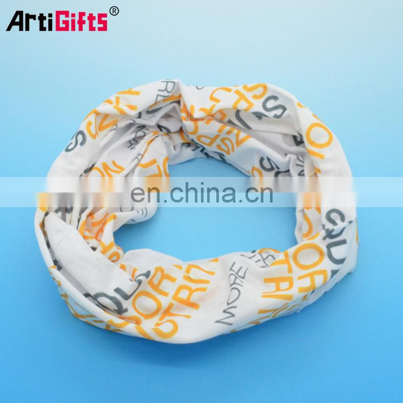 Promotion multifunctional white bandana fabric