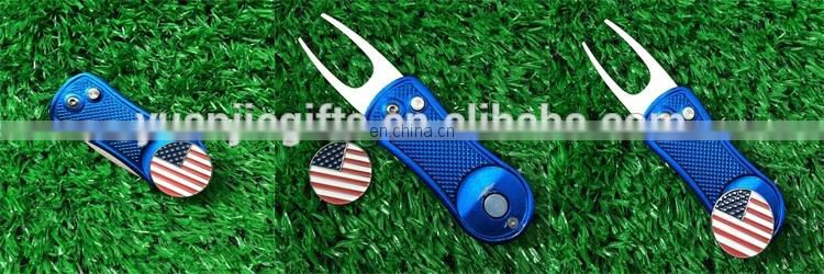 Ball marker holder metal golf bag shape hat clips