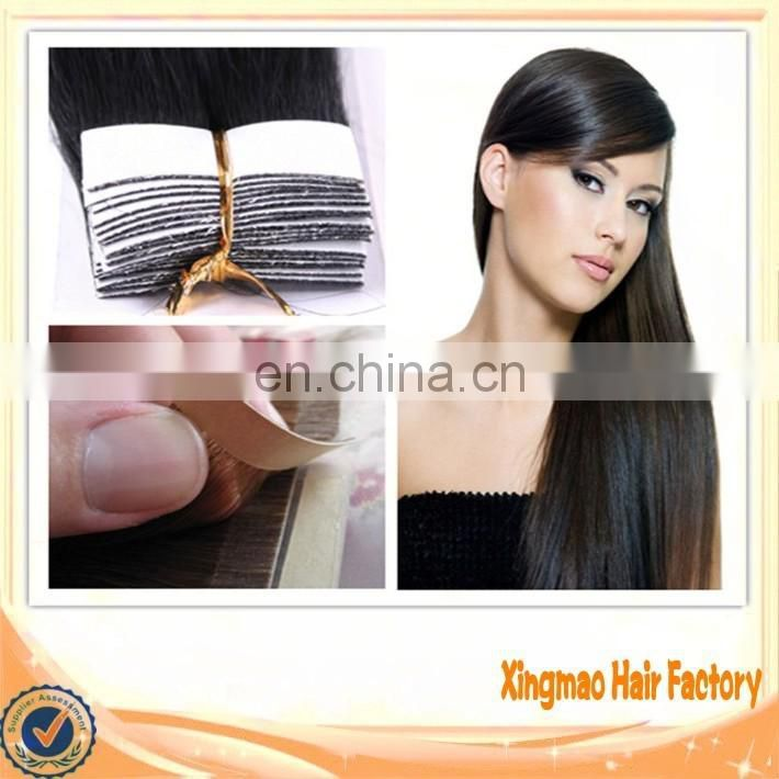Remy Human Tape Hair Extension Full Cuticle Double Drawn Skin Weft Cheap Price 5A Grade 100% Indian Remy Human Healthy Hair