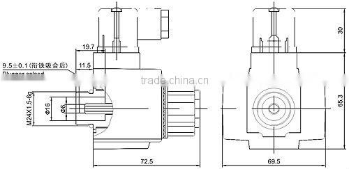 Hydraulic wet-pin type solenoid 220v ac